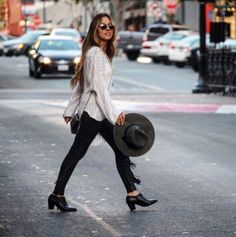 A chic cool weather look featuring the Vionic Shoes Taber bootie. #style #boots