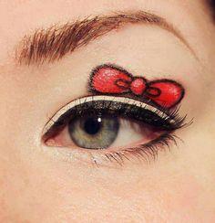 cute makeup, such a cute eye makeup :)
