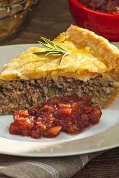 French Canadian Tourtiere Meat Pie Recipe with Ground Pork, Ground Beef, Onion, . French Meat Pie, French Canadian Meat Pie Recipe, French Food, Quiche, Meat Recipes, Cooking Recipes, Lasagna Recipes, Healthy Recipes, Chicken Recipes