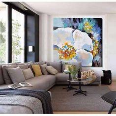 Cuadros Modernos 100x100 Abstractos Flores Tripticos - $ 2.799,99