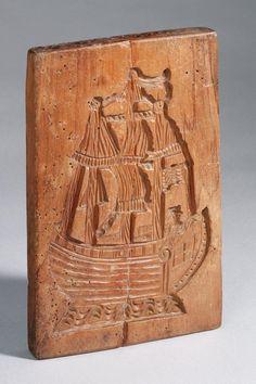Koekplank met afbeeldingen van schepen