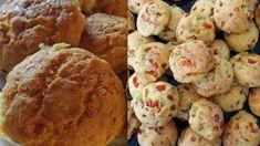 Πεντανόστιμα & αφράτα μπισκοτομπαλάκια με τυριά και αλλαντικά Greek Recipes, Muffin, Lunch, Breakfast, Ethnic Recipes, Food, Morning Coffee, Eat Lunch, Essen