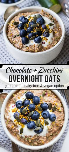 Healthy Chocolate Zucchini Overnight Oats {gluten free, dairy free and vegan friendly recipe} - the perfect breakfast to meal prep in advance, no cooking required!