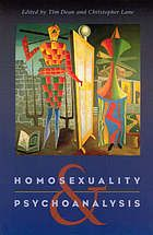 Homosexuality & Psychoanalysis by Tim Dean and Christopher Lane