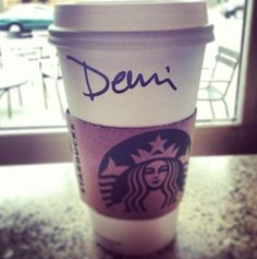 I guess Starbucks is excited about my album coming out too!! :P #DEMI #MAY14TH #DemiMay14