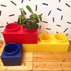 Excited about my new LEGO plants pot Keeping them inside until warm weather ➕➕➕ thanks @triangle_store_hackney ➕❤️