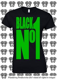 Goth Ladies Fit T-shirt Black No1 in Black or Green Sizes Small to 2XLarge by Plundering Productions #Goth #Gothic #TON #TypeONegative #Alternative #AltFashion #AltBrand #AltClothing #Black #Green