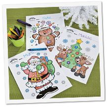 Christmas Coloring Pages - from Santa to Baby Jesus freefunchristmas.com (Oriental Trading)