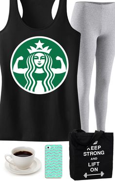 Great for the #Workout and Coffee addict! Featuring a STARBUFF Parody #Gym Tank Top. #Crossfit by NobullWomanApparel, $24.99 on Etsy. Click here to get yours https://www.etsy.com/listing/185248984/coffee-power-workout-tank-top-workout?ref=shop_home_active_2
