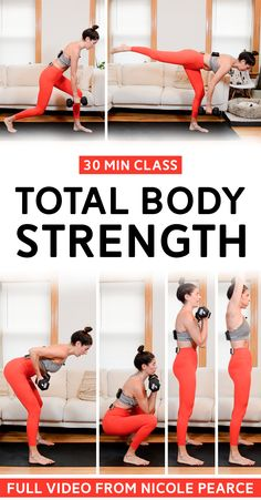 30-minute total body dumbbell workout. No jumping, all low impact. Class includes guided warm up and cool down. #workout #homeworkout #lowimpactworkout Quiet Workout, Easy At Home Workouts, Major Muscles, Low Impact Workout, Certified Personal Trainer, Dumbbell Workout, Group Fitness, Body Workouts, Muscle Groups