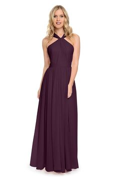 Shop Dove & Dahlia Bridesmaid Dress - Cora in Poly Chiffon at Weddington Way. Find the perfect made-to-order bridesmaid dresses for your bridal party in your favorite color, style and fabric at Weddington Way.