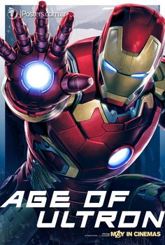 Iron Man - New AVENGERS: AGE OF ULTRON Character Promo Posters Revealed