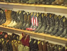 I will travel far and wide for those American flag boots.