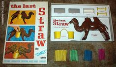 "The Last Straw Game -- This one looks like it also could have been called ""Torture the Camel. Old Board Games, Vintage Board Games, My Childhood Memories, Childhood Toys, 1970s Childhood, Baby Boomer Era, Bored Games, The Last Straw, My Memory"