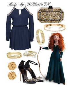 """""""Merida 2"""" by rheebavn ❤ liked on Polyvore featuring Glamorous, Edie Parker, Delfina Delettrez, Cartier, Tory Burch, Jules Smith and BCBGeneration"""