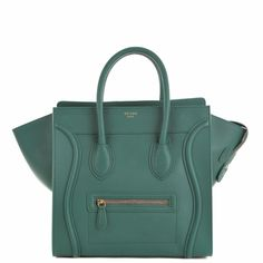 Celine Luggage Tote (30CM) in orange smooth calf leather.