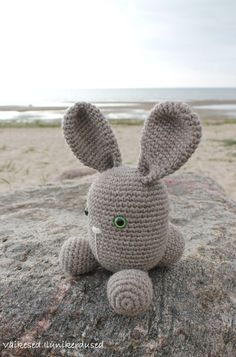 Good Dreams Bunny with Green Eyes by CuddlyandSoft on Etsy. When bad dreams come, it is surely very helpful to have this nice and funny little bunny around. This is the bunny of good dreams who helps keep all bad things away from you. Just take it in your arms and you will travel to the land of beautiful and happy slumber. The Good Dreams Bunny is made of high quality wool/alpaca blend yarn and stuffed with sheep's fleece.