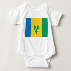 Flag of Saint Vincent and the Grenadines Baby Bodysuit