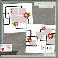 Framed Funky v.1 by keepscrappin designs $1.50