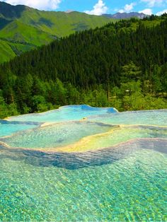 Rock Pools, Canada...Banff National Park, Canadian Rocky Mountains; Alberta, Canada                                                                                                                                                                                 More