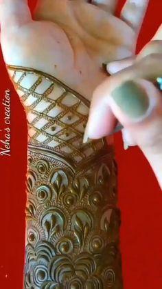 Mehndi Designs For Wedding, Khafif Mehndi Design, Henna Designs Feet, Floral Henna Designs, Back Hand Mehndi Designs, Full Hand Mehndi Designs, Mehndi Designs 2018, Modern Mehndi Designs, Mehndi Designs For Girls