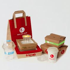 package / FRIENDS FAST FOOD by MAIHAUS , via Behance