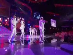 "Adam Lambert during American Idol's Finale group performance ""So What"""