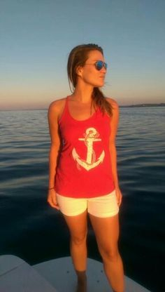 Anchors away! The Starboard Rail racerback tank is perfect for a seaside adventure. #LovingLifeOnTheWater #Anchor #Nautical #Boating