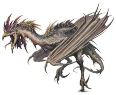 Cockatrice - undead rooster with leathery wings and dragon tail