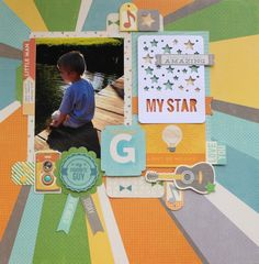 My Star Gabriel Layout - Cool As A Cucumber Soup Collection, Jillibean Soup ~ Scrapbook.com