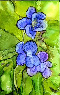 Violets by Maria Pazos Alcohol Inks