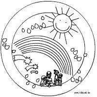 Kindergruppen-Mandala