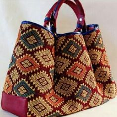 Etsuyu çanta Crochet Top Outfit, Crochet Shoes, Tapestry Bag, Tapestry Crochet, Chicken Cross Stitch, Ethnic Bag, Carpet Bag, Unique Bags, Crochet Handbags