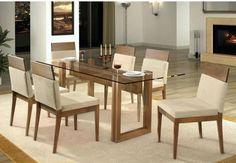 Fazer móveis sala de jantar - mesa tampo de vidro - Uberlândia (Minas Gerais) | Habitissimo