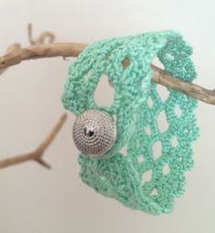 Lace Bracelet - free crochet pattern from Happiness Crafty.