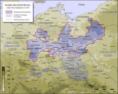 with Neumark east of the Oder River. North is Mecklenburg; west is Braunschweig-Luneburg; south is Nieder lausitia; east is Polen and former Prussia Margrave, Wilhelm Ii, Berlin Brandenburg, Mystery Of History, Learn German, Prussia, Historical Maps, Ancestry, High Quality Images