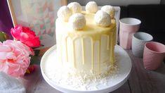 LAYER CAKE RAFFAELLO Cake Icing, Cupcake Cakes, Cupcakes, Molly Cake, Vanilla Cake, Dessert Recipes, Layers, Cooking Recipes, Pudding