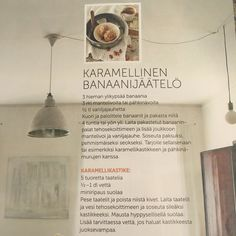 Karamellinen banaanijäätelö