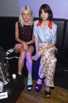 Emma Greenwell and Stacy Martin