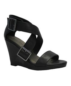Look at this Black Kendrick Wedge on #zulily today!
