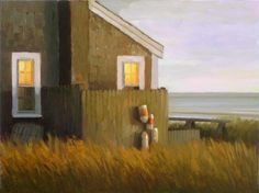 "Paul Schulenburg, ""Bayside Cottage at Sunset,"" ca. 2014."