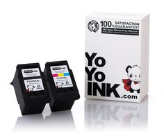 YoYoInk Remanufactured Ink Cartridge Replacement for Canon PG-240XXL & CL-241XL (1 Black, 1 Color) with Ink Level Indicator