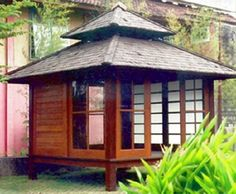 Japanese-style gazebo
