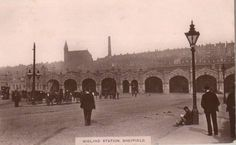 Midland Station, Sheffield, 1912 #socialsheffield #sheffield