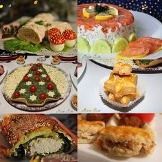 Aperitive de Craciun Christmas Appetizers, Best Appetizers, Romanian Food, Edible Art, Yummy Food, Yummy Recipes, Sushi, Deserts, Food And Drink