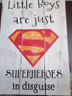SUPERMAN  little boys are just superheroes in by CaliforniaRustic, $45.00
