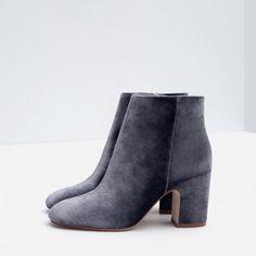 BOTTINES À TALON EN VELOURS-Bottines-Chaussures-FEMME   ZARA Suisse