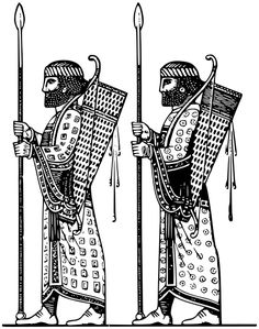 soldiers of Persian bodyguard - /world_history/warfare/soldiers/soldiers_of_Persian_bodyguard. Ancient Persian, Ancient Art, Farsi Tattoo, Soldier Tattoo, Geometric Wolf Tattoo, Persian Tattoo, Skateboard Deck Art, Sassanid, Achaemenid