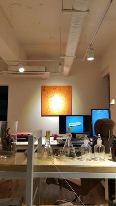 #interior #painting #white #beaker #office
