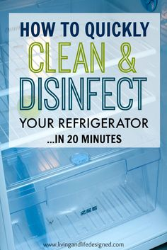 I just dread cleaning the fridge but this makes it look so easy. I definitely need to clean and disinfect our refrigerator more often. I'm adding this to our cleaning routine, these steps are super easy. Save for Later.